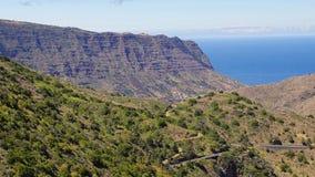 戈梅拉岛海岛,金丝雀,西班牙 库存照片