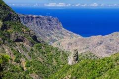 戈梅拉岛海岛,金丝雀,西班牙 免版税库存图片
