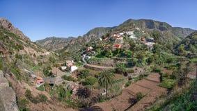 戈梅拉岛-村庄Banda de las Rosas 库存照片