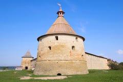 戈洛文塔特写镜头,晴朗的9月下午 Oreshek堡垒 冬天 库存图片