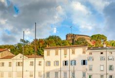戈里齐亚,城堡,弗留利Venezia朱莉娅,意大利 图库摄影