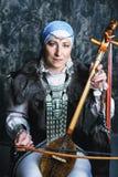 戏剧古老小提琴 免版税库存图片