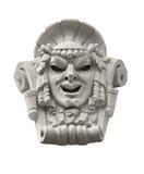 戏剧性面具雕塑 库存照片