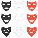 戏剧性面具 向量例证