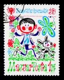 戏剧的孩子,孩子的国际年, serie,大约197 免版税库存照片
