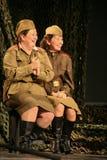 戏剧的片段关于第二次世界大战的 免版税库存照片