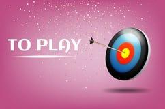 戏剧箭比赛例证设计 体育目标胜利概念 企业成功标志 库存照片