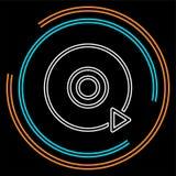 戏剧dvd按钮-媒介或音乐播放器 皇族释放例证