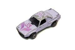 戏弄体育小轿车在白色隔绝的汽车 免版税库存照片