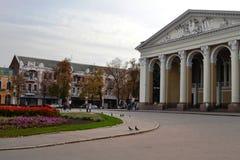 戏曲剧院的大厦在波尔塔瓦 免版税库存照片
