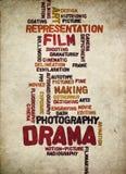 戏曲和电影制作葡萄酒 向量例证