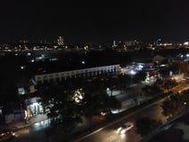 戏曲晚上美丽如画的路晃动天空 库存图片