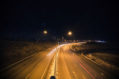 戏曲晚上美丽如画的路晃动天空 免版税库存图片