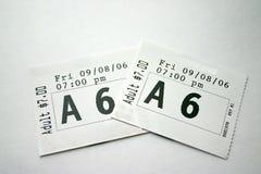戏票 免版税图库摄影