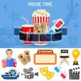 戏院和电影概念 免版税库存照片