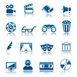 戏院图标集合剧院 免版税库存图片