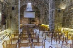 戏院大厅在堡垒 库存照片
