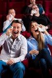 戏院夫妇其他人员 免版税库存图片