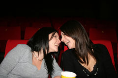 戏院女孩 图库摄影