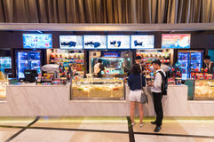 戏院小吃店,模范Cineplex,曼谷 免版税库存照片
