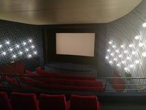 戏院屏幕椅子 库存照片