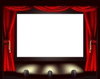 戏院屏幕 免版税库存图片