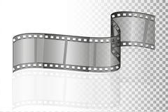 戏院影片透明储蓄传染媒介例证 库存例证