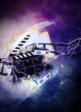 戏院或电影背景 免版税库存照片