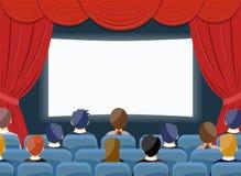 戏院手表电影院空的屏幕模板 皇族释放例证