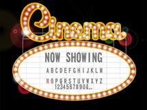 戏院标志 免版税图库摄影