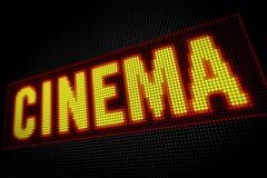 戏院氖 免版税库存图片