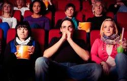 戏院的人们 免版税库存照片