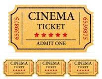 戏院票股票传染媒介例证 库存例证
