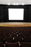 戏院空的屏幕 库存照片