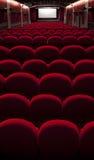 戏院空的红色 免版税库存图片