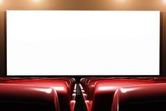 戏院观众席内部3D回报 免版税库存图片