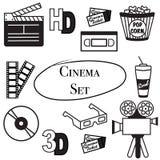 戏院集合的传染媒介例证 免版税库存照片