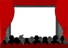 戏院 皇族释放例证