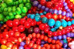 成串珠状五颜六色的混合 免版税图库摄影
