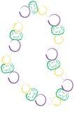 成串珠状五颜六色的gras mardi 库存例证