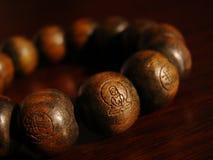 成串珠状佛教徒 库存图片