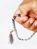 成串珠状回教祷告 库存图片