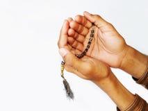 成串珠状回教祷告 库存照片