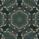 成串珠状抽象坛场设计模板 库存例证