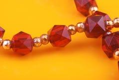 成串珠状水晶 库存图片