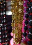 成串珠状狂欢节货币 库存图片