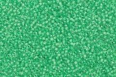 成串珠状玻璃绿色 喂res照片 库存图片