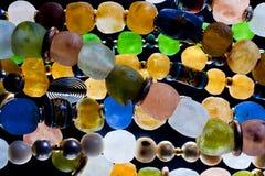 成串珠状玻璃 库存图片