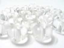成串珠状玻璃 免版税库存照片