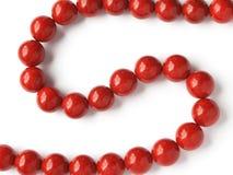 成串珠状珊瑚红色 库存照片